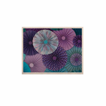 "Heidi Jennings ""Amethyst Glacier"" Teal Purple KESS Naturals Canvas (Frame not Included)"