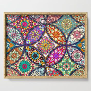 Colorful Mandala Serving Tray by allisone