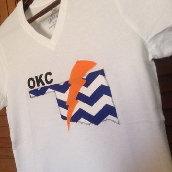 Oklahoma City Thunder women's tshirt, OKC thunder shirt
