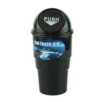New Qualified Delicate Car garbage can vehicle Trash Can Garbage Dust Case Holder Bin Hot Selling jan7