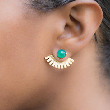 Beautiful Sector Shape Earrings