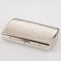 White Copper Engraved Cigarette Case - Holds 12