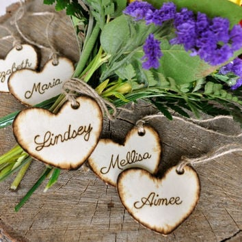 Wedding Favor, Bridesmaids Gifts, Rustic Wedding Favor, Wedding Party Personalized Tags