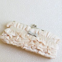 Fluttering Joy Clutch In Beige | Modern Vintage Clutches | Modern Vintage Accessories | Modern Vintage Bridal