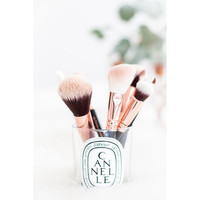 COMPLETE 15 PCS ROSE GOLD MAKEUP BRUSH SET Professional Luxury Set Make Up Tools Kit Powder Blending brushes