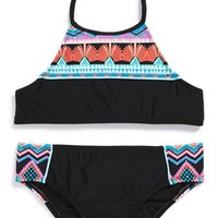 Girl's Hobie Two-Piece Swimsuit