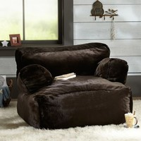 Coffee Luxe Fur Eco Lounger | PBteen