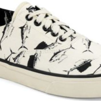 Sperry Top-Sider Cloud Fish Print CVO Sneaker WhiteFishPrint, Size 9M  Men's Shoes