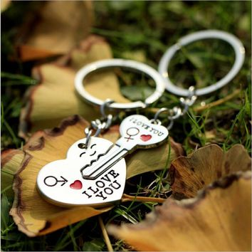 1 Pair Lovers Key to My Heart Keychain Valentine's Day Wedding Favors And Gifts Souvenirs Wedding Event & Party Supplies