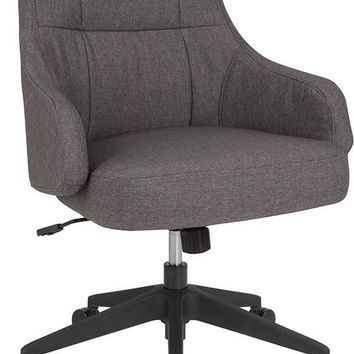 Dinan Home and Office Upholstered Mid-Back Chair in Dark Gray Fabric [BT-90911H-DGY-F-GG]