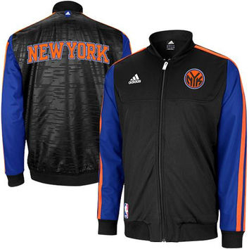 adidas New York Knicks On-Court Home Weekend Warm-Up Jacket - Black