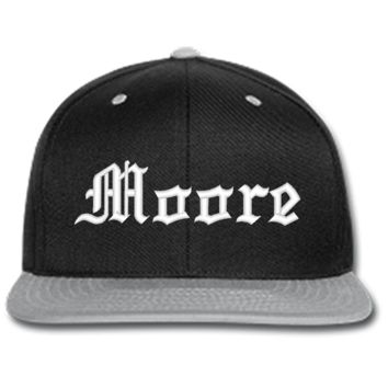 MOORE EMBROIDERED beanie or SNAPBACK hat