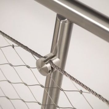 STAINLESS STEEL STAIR BALUSTRADE Q-LINE ® EASY Q-WEB | Q-RAILING ITALIA