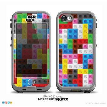 The Neon Building Blocks Skin for the iPhone 5c nüüd LifeProof Case