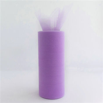 Tulle Spool Fabric Net Roll, 6-inch, 25-yard, Lavender