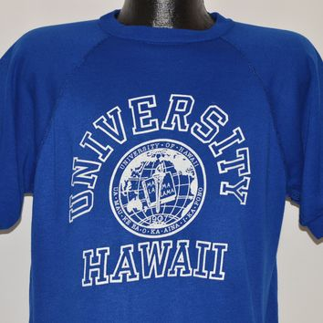 70s University of Hawaii Short Sleeve Sweatshirt Large