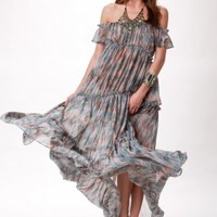 DESERT DREAMS TIERED MAXI DRESS