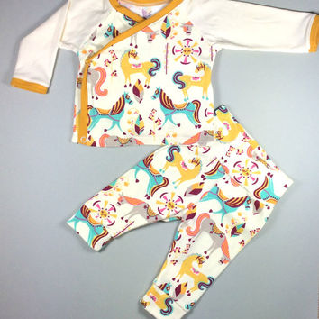 Baby girl going home outfit, baby hospital outfit, baby kimono outfit,  Organic baby outfit, baby leggings, Baby girl hospital outfit