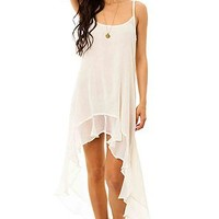 RVCA The Mogador Crinkle Gauze Maxi Dress in Vintage White : Karmaloop.com - Global Concrete Culture