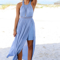 Pretty Persuasion Blue Maxi Dress