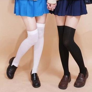 Free Shipping 6 Colors Cosplay  Velvet Stockings Preppy Style silk Stockings (buy one and get one free)