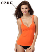 2016 Sexy Female Cotton Seamless Body Fitness Pad Sports Vest Tops Brassiere Women Activewear Athletic Casual Camisole Tank 5057