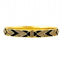 House of Harlow 1960 Jewelry Braided Pave Bangle Multi