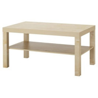 Modern Coffee Table in Birch Wood Finish