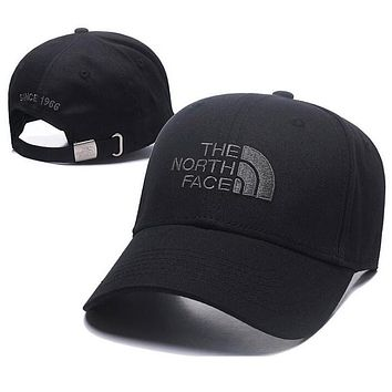 The North Face Trending Women Men Stylish Embroidery Sports Sun Hat Baseball Cap Hat Black