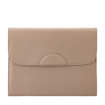 Portfolio Case Scotch Grain Pebble Leather | Stone