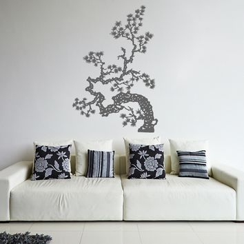 ik350 Wall Decal Sticker Japanese bonsai tree kitchen kids bedroom