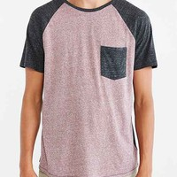 BDG Raglan Tonal Blocked Pocket Tee