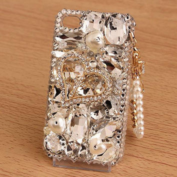 New Rhinestone Love Gem DIY Phone Case Deco Den Kit & by chen370