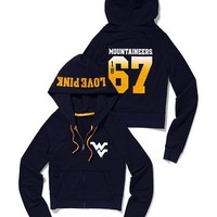 West Virginia University Shrunken Zip Hoodie