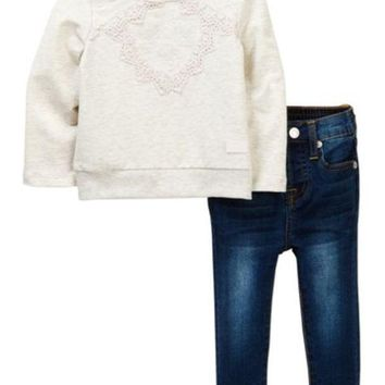 7 For All Mankind | Popover & Skinny Jeans (Baby Girls)