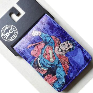 Comics DC Marvel Superman Purse Leather Wallet Men Super Hero porte monnaie Card Bags 4.5 inh Best Gift for Kids Children