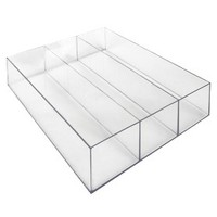 MEXSE Drawer Organizer with 3 Compartments