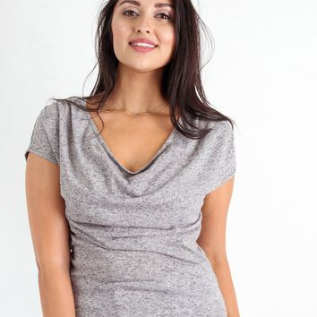The Drapey Top in Heathered Linen (S-L)