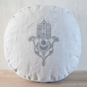 Meditation cushion, organic linen meditation cushion, organic zafu, meditation, yoga meditation pillow, buckwheat meditation cushion, zafu