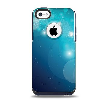 The Glowing Blue & Teal Translucent Circles Skin for the iPhone 5c OtterBox Commuter Case