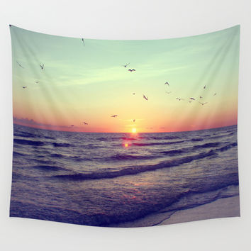 Siesta Key Sunset Wall Tapestry by CAPow!