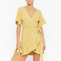 Surplice Wrap-Front Dress