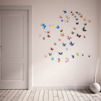 Realistic 3D Wall Butterflies- set of 50