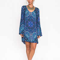 Kiss the Sky Bell Sleeve Mini - Bluejay