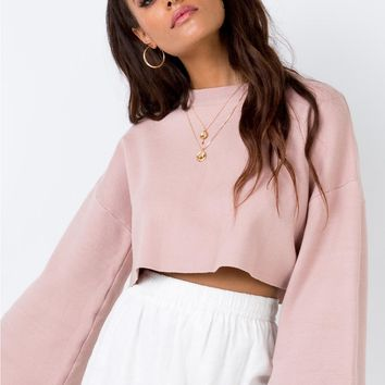Girl Soldier Crop Jumper Blush | Princess Polly