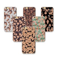 Newest Phone Case For iphone 7 6 6s 5 5s SE 6plus 6splus 5C 4 4s Funny Face Kimoji Kim Kardashian Cases Clear Ultrathin Cover