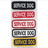 Service Dog Patch Small Size 1x3 inch Danny & LuAnns Embroidery