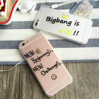 Letter matte transparent mobile phone case for iphone 5 5s SE 6 6s 6plus 6s plus + Nice gift box!