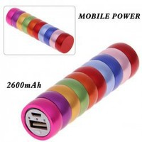 2600mAh Carpenterworm Mobile External Power Battery Charger for iPhone 4/4S, Various Cell Phones and Digital Devices