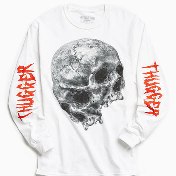 Young Thug Dual Skulls Long Sleeve Tee | Urban Outfitters